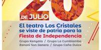 Prográmate este 20 de julio en el Teatro al Aire Libre Los Cristales