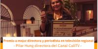 Pilar Hung galardonada como mejor periodista-directora de televisión regional en Colombia